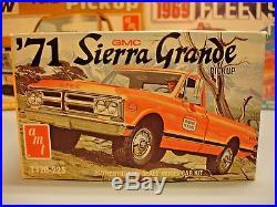 Amt 1971 Gmc Sierra Grande Pickup Truck #t120-225 Mpc 71 1/25 Rare O/b Model Kit
