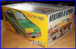 AMT 1972 Pontiac Ventura II Unbuilt Kit #T379 225 Sealed Inside, 1/25th Scale
