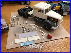 AMT 1/25 1955 Autocar DC75F Integral Sleeper Built Project Truck Model As Is