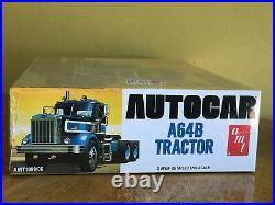 AMT 1/25 Autocar A64B and AMT 1/25 Peerless Roadrunner Logging Trailer Sealed