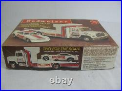 AMT 1/25 Budweiser Race Team with Ford Transport Truck & Mustang Funny Car #6501