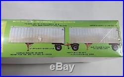 AMT 1/25 Double Header Trailer Van box container model kit 38684 tractor truck w