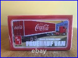AMT 1/25 Kenworth K-123 Cabover and AMT 1/25 Coca Cola Beaded Panel Van Sealed