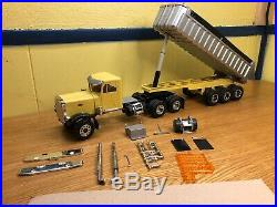 AMT 1/25 Peterbilt 359 Truck Custom Built & Matching Dump Trailer Needs Finished
