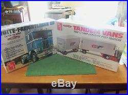 AMT 1/25 scale White Freightliner and double trailer kits