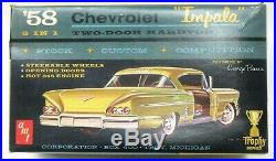 AMT #2758-200 1958 CHEVY IMPALA molded in WHITE model kit 125 MINT p1