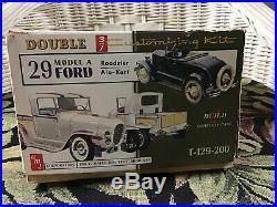 AMT 29 Ford Model A Roadster Ala Kart Double Kit Vintage Original # T-129-200