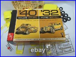 AMT'40 Willys Coupe'32 Ford Sedan Double Kit Trophy Series 1/25 Model 2532-200
