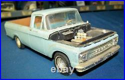 AMT 61 FORD F100 PICK-UP with trailer 1/25th for parts, display, or restore