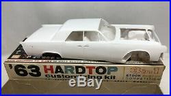 AMT'63 Lincoln Continental Hardtop 3 IN 1 Customizing Kit 125 Scale Model 6423