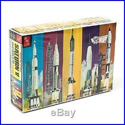 AMT 700 Man In Space NASA Apollo Saturn V Spacecraft 1/200 Model Rocket Kit Set