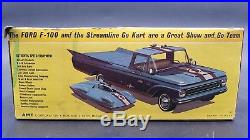 AMT 8133 AMT 1963 FORD PICKUP TRUCK WithGO CART ANNUAL 1/25 MODEL Car Mountain