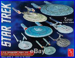 AMT 954 Star Trek USS Enterprise Box Set of 7 Plastic Model Kits 1/2500 Scale