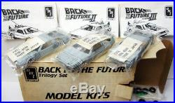 AMT BACK TO THE FUTURE TRILOGY 3 DeLOREAN MODEL CAR KITS SEALED MAIL AWAY SET 91