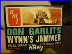 AMT Don Garlits Wynns Jammer Fuel Dragster. 125 Scale. RARE 67 Box Art KIT