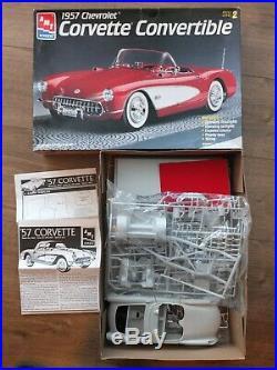 AMT ERTL 6464 1957 Chevrolet Corvette Convertible Rare 1/16 Scale Model Kit