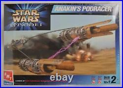 AMT/ERTL Star Wars EP1 COMPLETE SET Model Kits Eleven (11) Different