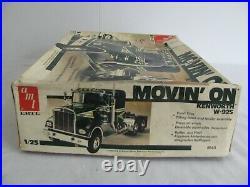 AMT Ertl 1/25 Scale Movin' On Kenworth W-925 Tractor Truck Semi Kit #6643 NIB
