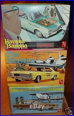 AMT Fidel Castro box art lot Havana Banana, Che Riviera, Beard of Paradise unbuilt