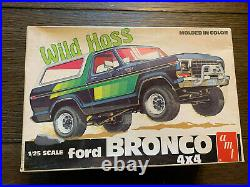 AMT Ford Bronco 4x4 WILD HOSS 1/25 NIOB! VINTAGE RARE O. J. Simpson SUV LOOK