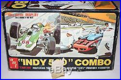 AMT Indy 500 Combo U/B 1/25 Scale Plastic 2 Car Model Kit withGrandstand Diarama
