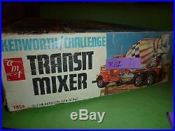 AMT Kenworth Challenge Transit CEMENT Mixer TRUCK 1/25 Model Car Mountain T559