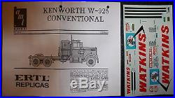 AMT Kenworth Conventional W-925 l 125 Model Kit