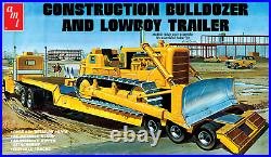 AMT Lowboy Trailer & Bulldozer Combo 125 Scale Model Kit