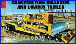 AMT Lowboy Trailer & Bulldozer Combo 125 scale model kit 1218