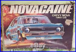 AMT Novacaine Chevy Nova Funny Car F/C Drag T382 1970's Issue Builder in Box