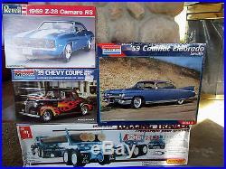 Amt Peerless Roadrunner Logging Trailer Model Lot Of 4 ++ Vintage Sealed Chevy