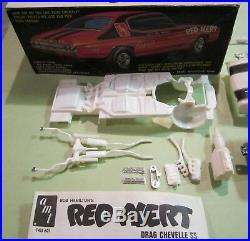 AMT Red Alert Chevelle SS Bob Hamilton Drag Chevy Kit #T415 Vintage Race in Box