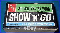 AMT SHOW'n GO-40 Willys/32 Ford Double Kit #2332 1/25 Scale-Model Car Swap Meet