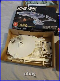 AMT STAR TREK Model Kits LOT OF SIX STAR TREK MODELS INCOMPLETE
