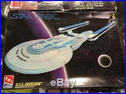 AMT STAR TREK USS Excelsior 6630 & TNG USS Enterprise Starship 6619 Model Kits