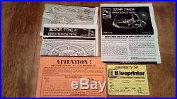 AMT Star Trek Deep Space Nine Station Fiber Optic Model Kit 8764 Rare Star Trek