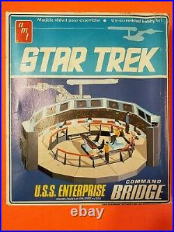 AMT Star Trek K-7 Space Station And Enterprise Bridge Model Kits