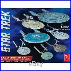 AMT Star Trek U. S. S. Enterprise Box Set 12500 Scale Model Snap Kit 7 Kits