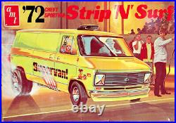 AMT Strip'N' Surf 1972 Chevy Window or Panel Van, Stock, Crew, Surf or Drag