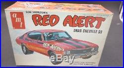 AMT T145 RED ALERT BOB HAMILTON DRAG CHEVELLE VINTAGE 1/25 Model Car Mountain