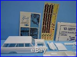 AMT #T308 1963 Chevrolet 63 Nova Chevy II Crew wagon Salt flats picture box LOOK