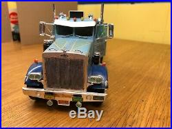 AMT T500-500 1/25 Peterbilt 359A Built Doors Open With RGN Style Trailer