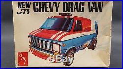 AMT T547 1973 CHEVY DRAG VAN VINTAGE 1/25 MODEL Car Mountain