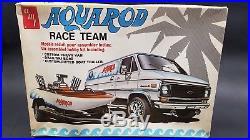 AMT T561 AQUAROD CHEVY VAN BOAT, TRAILER RACE TEAM 1/25 Model Car Mountain