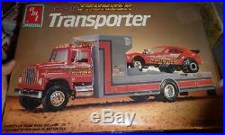 AMT TENNESSEE THUNDER FORD TRANSPORTER PULLING TEAM 1/25 Model Car Mountain FS