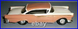 AMT Vintage 1957 FORD FAIRLANE 500 2DR HARDTOP WHITE WithCream Promo Car Nice