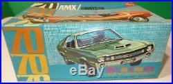 AMT #Y722-200 1970 AMERICAN MOTORS AMX FUNNY 1/25 Model Car Mountain COMPLETE