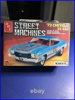 AmtERTL STREET MACHINES 72 CHEVELLE SS 454 Model Kit 1/25#6536 Amt#4177 F/S 87