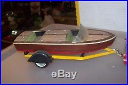 Amt 1961 Buick Station Wagon Boat &trailer Screw Bottom Built Model Car Kit