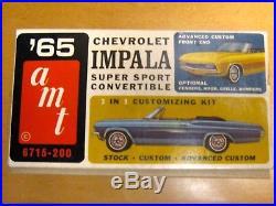 Amt 1965 Chevrolet Impala Ss Conv. Original Unbuilt Model Car Kit #6715-200